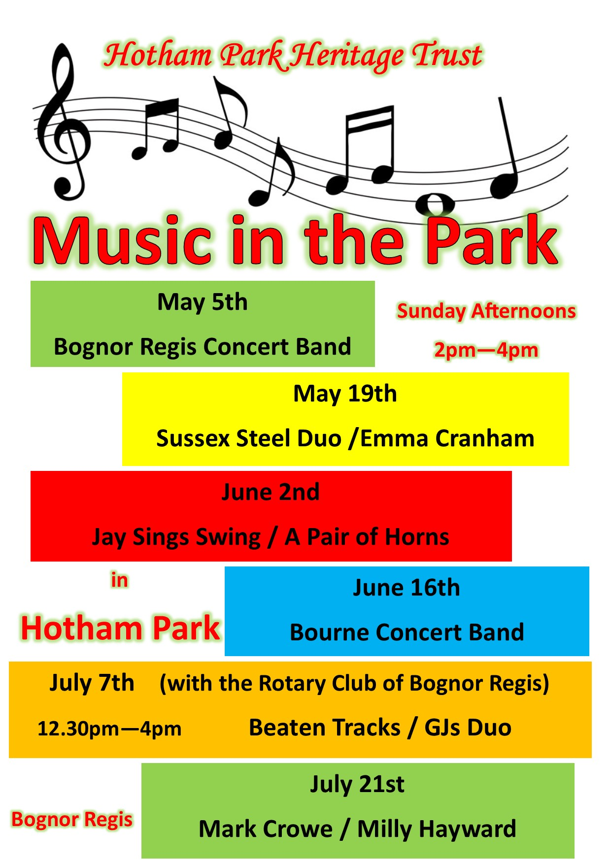 Music in Park poster